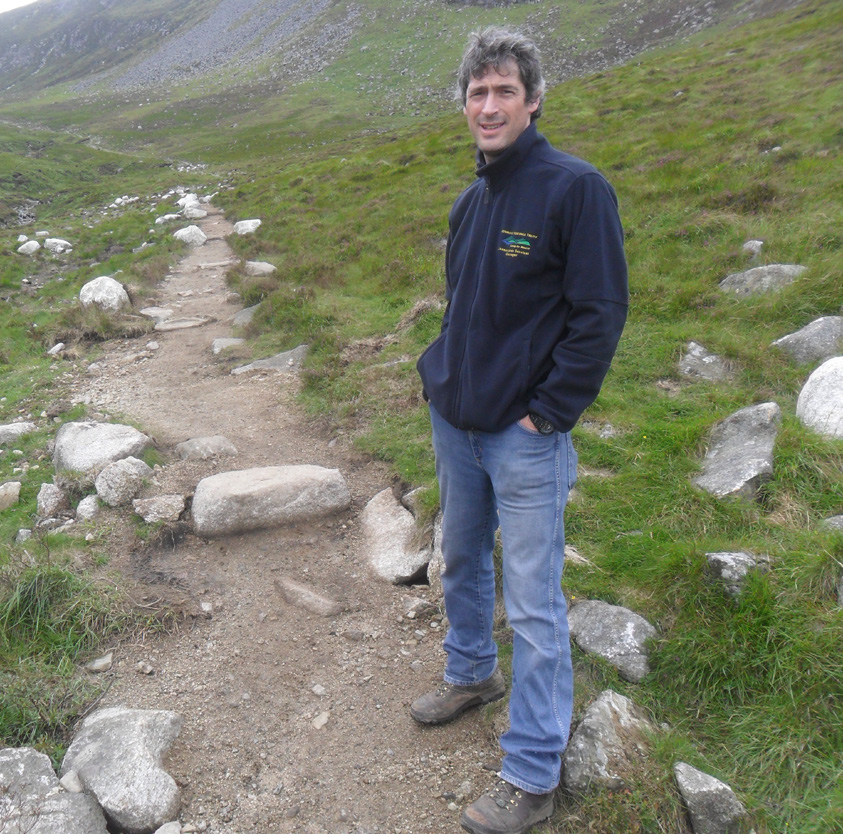 Matthew Bushby, chair of Mourne Wildfire Group